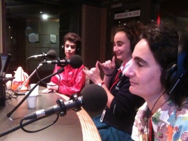 Sandy, Maddy and Raffy on air with Raf Epstein on 774 ABC Melbourne